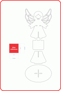 Angel Candle Holder Laser Cut Free AI File