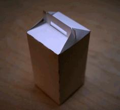 Laser Cut Gable Packaging Box Cardboard Box Template Free CDR Vectors Art