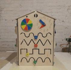Montessori Educational Material Lock Latch Box Baby Kids Toys Gift Free CDR Vectors Art