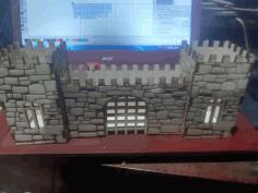 Castle Fortress Pen Pencil Holder Desk Organizer For Laser Cutting Free CDR Vectors Art