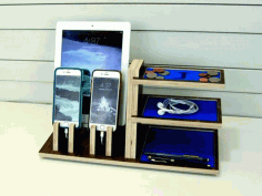 Organizer Stand For Devices For Laser Cutting Free CDR Vectors Art