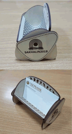 Business Card Holder Drawing For Laser Cutting Free CDR Vectors Art