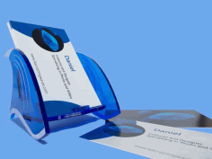 Business Card Holder For Laser Cutting Free CDR Vectors Art