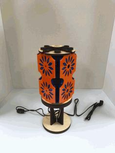 Laser Cut Lamp Color With Shadows Free CDR Vectors Art