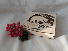 Folding Lid Candy Box Plywood 4mm For Laser Cutting Free CDR Vectors Art