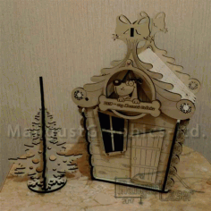 House Of Candy Box For Laser Cutting Free CDR Vectors Art