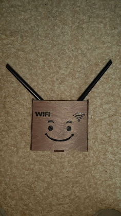 Wifi Box For Laser Cutting Free CDR Vectors Art