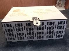 Wooden Savings Bank Money Box For Laser Cut Free CDR Vectors Art