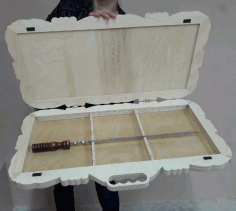 Barbecue Skewers Decorative Wooden Storage Box Laser Cut Free DXF File