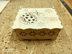 Box For Christmas Decorations Layout For Laser Cutting Free DXF File