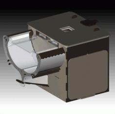 Laser Cut Crown Box Brown Color EPS Vector