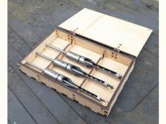 Laser Cut Mortiser Chisel Box EPS Vector