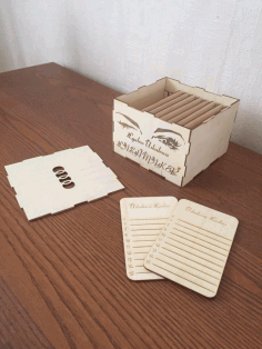 Wooden Box Drawing For Laser Cutting Free AI File
