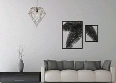 Laser Cut Fern Panel Wall Decor Free CDR Vectors Art