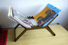 Magzine Rack For Laser Cutting Free DXF File