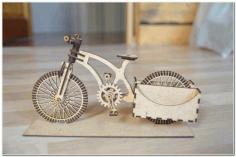 Wooden Organizer A Bike For Laser Cutting Free CDR Vectors Art