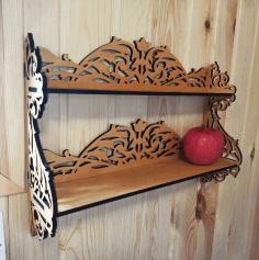 Decorative Bunk Bed Shelf For Laser Cut Free CDR Vectors Art