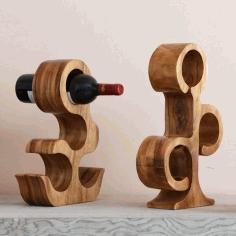 Cat Creative Wood Wine Rack Laser Cut Free CDR Vectors Art
