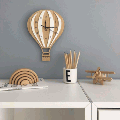 Model Of A Clock In The Shape Of A Balloon For Laser Cutting Free CDR Vectors Art