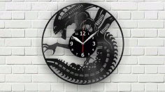 Vynl Clock Layout For Laser Cutting Free CDR Vectors Art