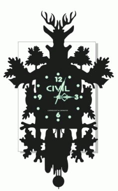 Layout Of Deer Watch For Laser Cutting Free CDR Vectors Art