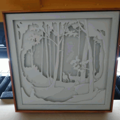 Fairy Forest Animals Lightbox Template For Laser Cutting Free CDR Vectors Art