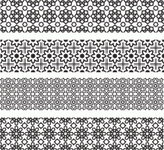Floral Ornament Pattern Drawings And Layouts For Laser Cutting Free CDR Vectors Art
