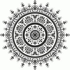 Laser Cut Black Mandala Art Free CDR Vectors Art