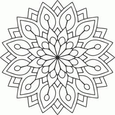 Laser Cut Mandala Des Flower Free CDR Vectors Art