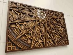 Laser Cut Mandala Panel Drawing Free CDR Vectors Art