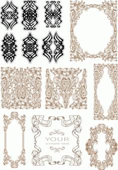 Laser Cut Vintage Baroque Ornament Retro Pattern Free CDR Vectors Art