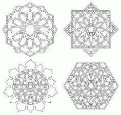 Mandala Drawing 3 For Laser Cutting Free DXF File