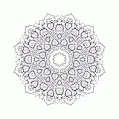 Laser Cut Mandala For Coloring 8 EPS Vector