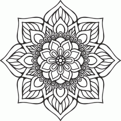 Laser Cut Mandala Indian EPS Vector