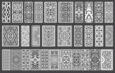 Lasercut Ornament Set 3 EPS Vector