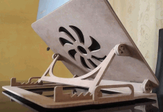 Adjustable Folding Laptop Table For Laser Cutting Free CDR Vectors Art