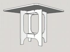 Bauhaus 800 Table For Laser Cut Free DXF File