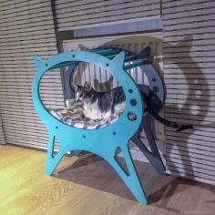 Cat Lounger Pet Furniture Laser Cut Free CDR Vectors Art