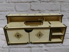 Miniature Dollhouse Furniture Dollhouse Kitchen 3mm For Laser Cut Free CDR Vectors Art