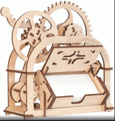 Business Card Holder From Ugears For Laser Cutting Free CDR Vectors Art