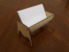 Simple Business Card Holder For Laser Cutting Free CDR Vectors Art