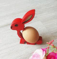 Bunny Easter Egg Holder For Laser Cutting Free DXF File