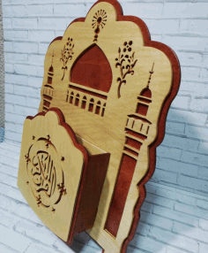 Decorative Quran Holder For Laser Cutting Free DXF File