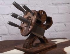 Decorative Spartan Knife Holder For Laser Cut Free DXF File