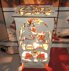 Bambi Forest Night Light For Laser Cutting Free DXF File