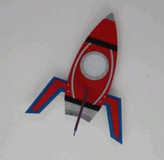 Laser Cut Rocket Ceiling Lamp Free DXF File