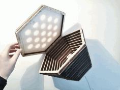 Beehive Lamp For Laser Cut Free CDR Vectors Art