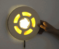 Iris Lamp With Mechanical Dimming For Laser Cut Free CDR Vectors Art