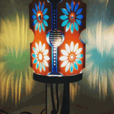 Lamp Daisy For Laser Cut Free CDR Vectors Art
