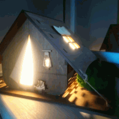 Night Light Tent For Laser Cut Free CDR Vectors Art